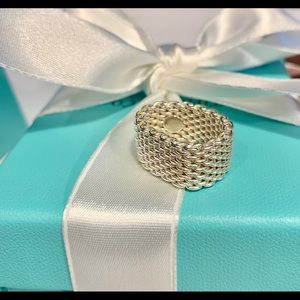 Tiffany &Co. Mesh Sterling Silver Ring